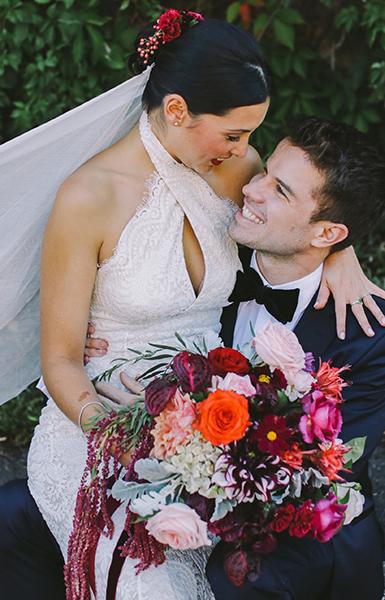 Bridal flower bouquet